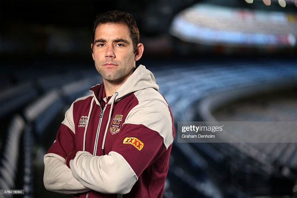 Cameron Smith poses during the Queensland Maroons State of Origin team announcement at Melbourne Cricket Ground on June 9, 2015 in Melbourne, Australia.