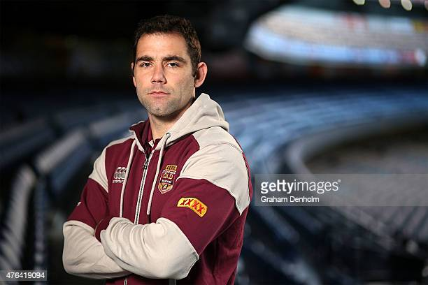 Cameron Smith poses during the Queensland Maroons State of Origin team announcement at Melbourne Cricket Ground on June 9 2015 in Melbourne Australia