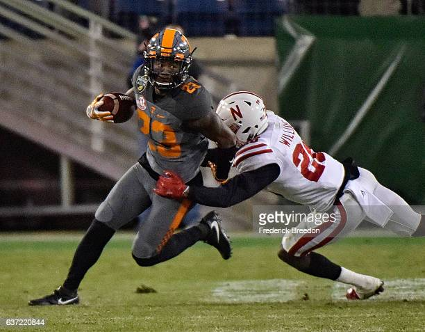 Cameron Sutton of the University of Tennessee Volunteers plays against the Nebraska Cornhuskers during the Franklin American Mortgage Music City Bowl...