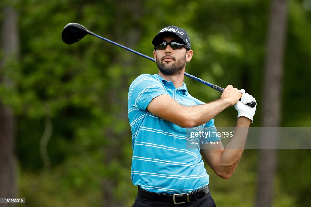 Cameron Tringale of the United States watches his tee shot on the thirteenth hole during round three of the Shell Houston Open at the Golf Club of Houston on April 5, 2014 in Humble, Texas.