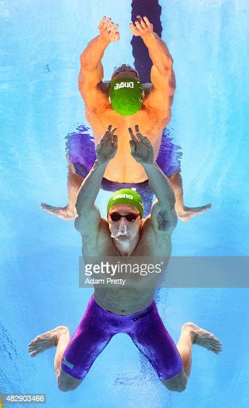 Cameron Van Der Burgh of South Africa competes in the Men's 100m Breaststroke Final on day ten of the 16th FINA World Championships at the Kazan...