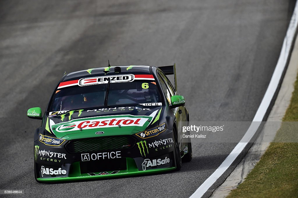 Cameron Waters drives the #6 Monster Energy Ford Falcon FGX during practice for the V8 Supercars Perth SuperSprint at Barbagallo Raceway on May 6, 2016 in Perth, Australia.