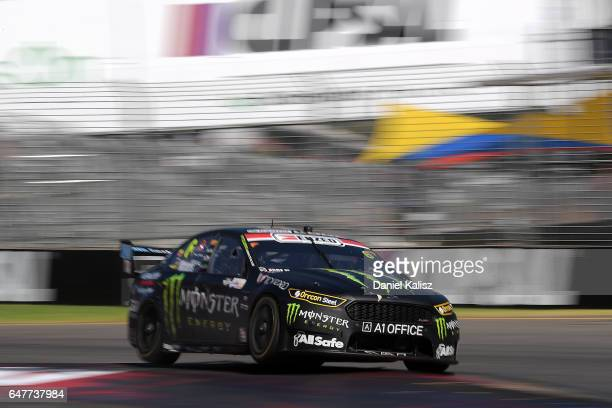 Cameron Waters drives the Monster Energy Ford Falcon FGX during race 1 for the Clipsal 500 which is part of the Supercars Championship at Adelaide...