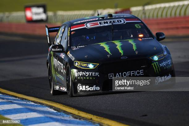 Cameron Waters drives the Monster Energy Ford Falcon FGX during the Sandown 500 which is part of the Supercars Championship at Sandown International...