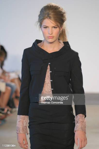 Cameron wearing Roland Mouret Spring 2005 during Olympus Fashion Week Spring 2005 Roland Mouret Runway at West 49th Street in New York City New York...