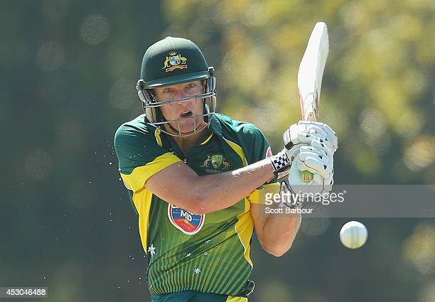 Cameron White of Australia 'A' bats during the Cricket Australia Quadrangular Series Final match between Australia 'A' and India 'A' at Marrara Oval...