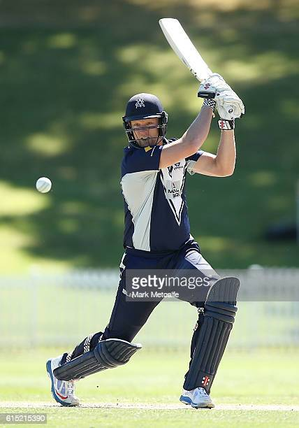Cameron White of the Bushrangers bats during the Matador BBQs One Day Cup match between Victoria and Queensland at Drummoyne Oval on October 18 2016...
