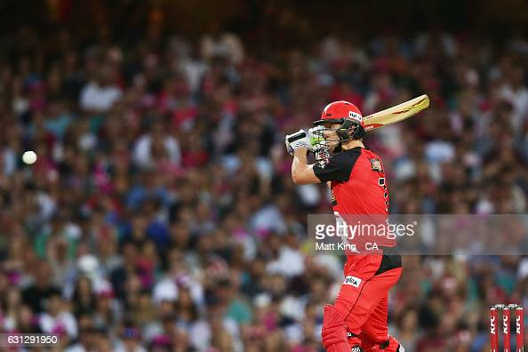 Cameron White of the Renegades bats during the Big Bash League match between the Sydney Sixers and the Melbourne Renegades at Sydney Cricket Ground...