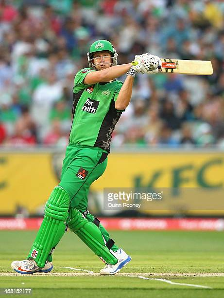 Cameron White of the Stars bats during the Big Bash League match between the Melbourne Stars and the Melbourne Renegades at Melbourne Cricket Ground...
