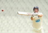 Cameron White of Victoria bats during day one of the Sheffield Shield match between the Victoria Bushrangers and the Western Australia at the...