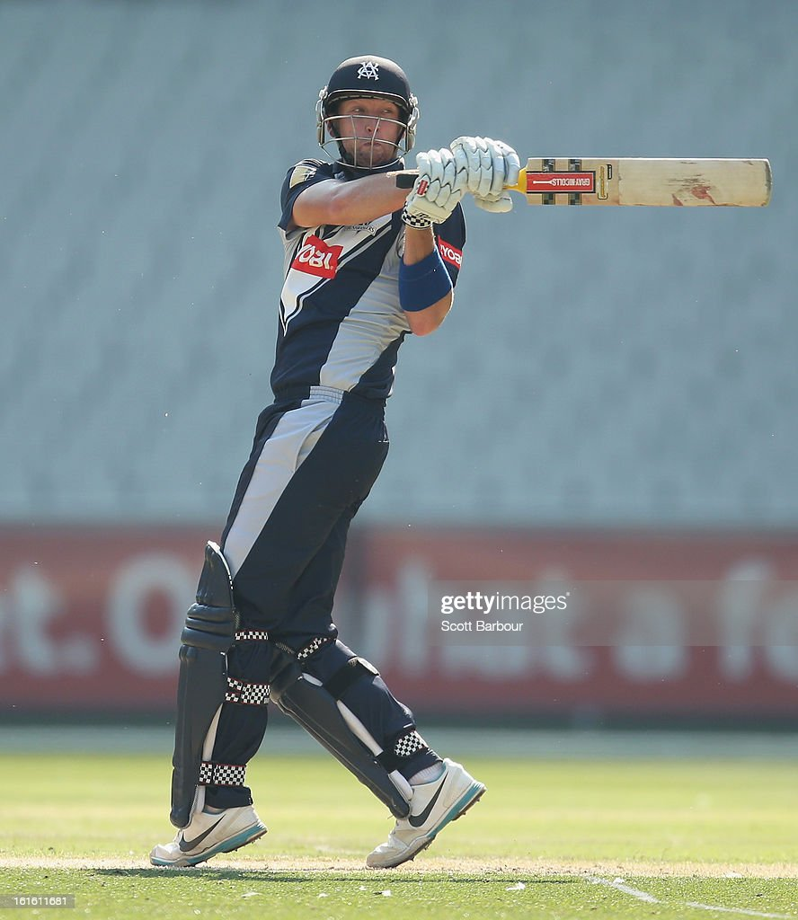 Cameron White of Victoria bats during the international tour match between Victoria and the England Lions at the Melbourne Cricket Ground on February 13, 2013 in Melbourne, Australia.