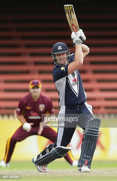 Cameron White of Victoria bats during the Matador BBQs Cup match between Queensland and Victoria at North Sydney Oval on October 14 2014 in Sydney...