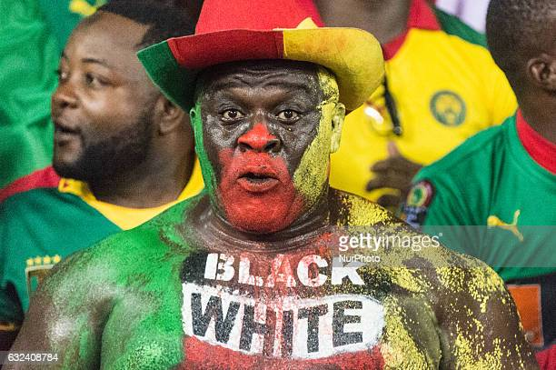 Cameroon fans at African Cup of Nations 2017 between Cameroon and Gabon at Libreville Gabon on 20/1/2017