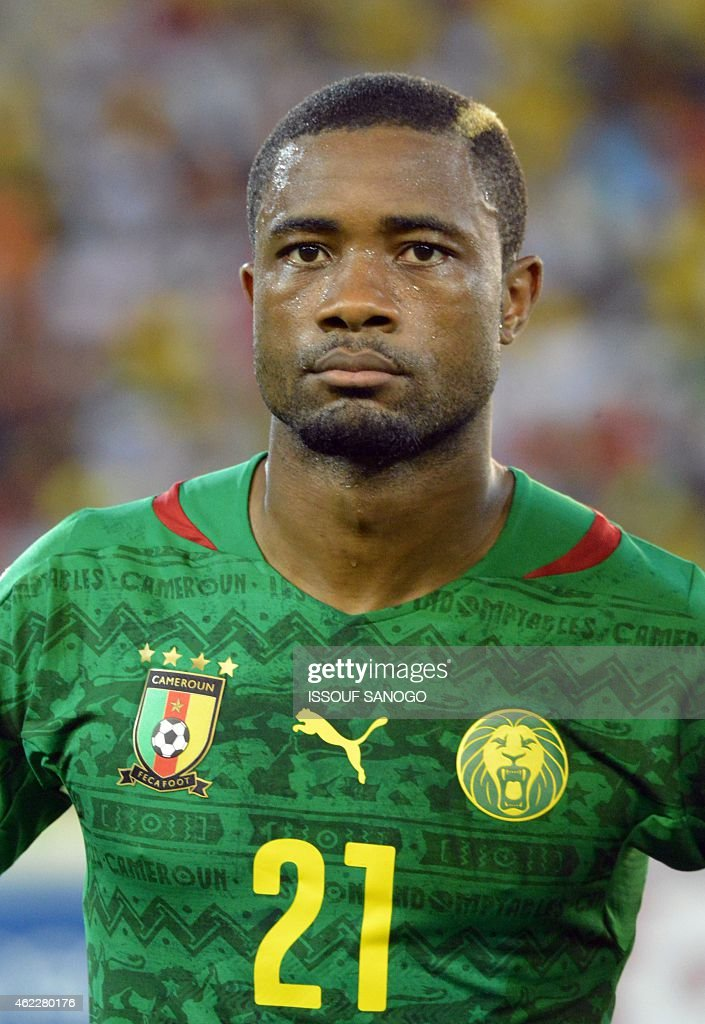 Cameroon's defender <a gi-track='captionPersonalityLinkClicked' href=/galleries/search?phrase=Aurelien+Chedjou&family=editorial&specificpeople=4520971 ng-click='$event.stopPropagation()'>Aurelien Chedjou</a> poses ahead of the 2015 African Cup of Nations group D football match between Cameroon and Guinea in Malabo on January 24, 2015. AFP PHOTO / ISSOUF SANOGO