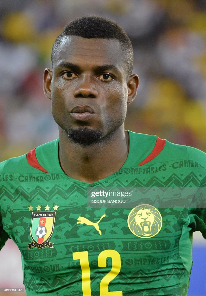 Cameroon's defender <a gi-track='captionPersonalityLinkClicked' href=/galleries/search?phrase=Henri+Bedimo&family=editorial&specificpeople=2293105 ng-click='$event.stopPropagation()'>Henri Bedimo</a> poses ahead of the 2015 African Cup of Nations group D football match between Cameroon and Guinea in Malabo on January 24, 2015. AFP PHOTO / ISSOUF SANOGO