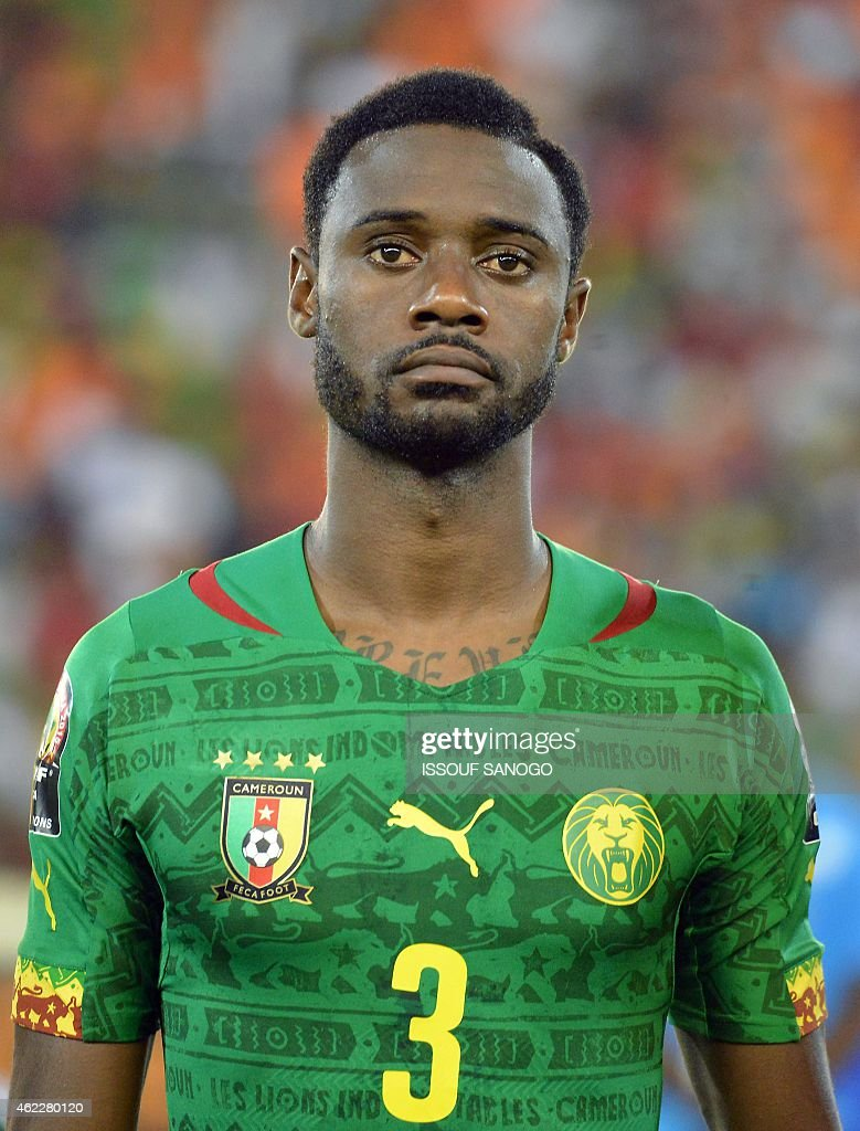 Cameroon's defender <a gi-track='captionPersonalityLinkClicked' href=/galleries/search?phrase=Nicolas+Nkoulou&family=editorial&specificpeople=5398235 ng-click='$event.stopPropagation()'>Nicolas Nkoulou</a> poses ahead of the 2015 African Cup of Nations group D football match between Cameroon and Guinea in Malabo on January 24, 2015. AFP PHOTO / ISSOUF SANOGO