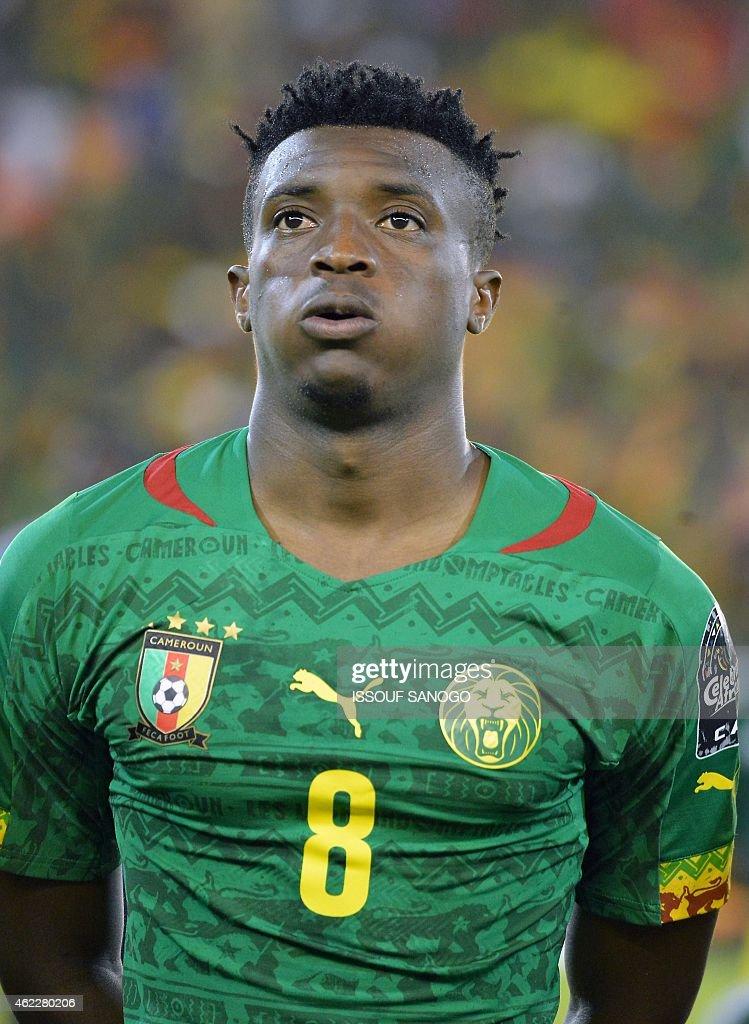 Cameroon's forward <a gi-track='captionPersonalityLinkClicked' href=/galleries/search?phrase=Benjamin+Moukandjo&family=editorial&specificpeople=7470600 ng-click='$event.stopPropagation()'>Benjamin Moukandjo</a> poses ahead of the 2015 African Cup of Nations group D football match between Cameroon and Guinea in Malabo on January 24, 2015.