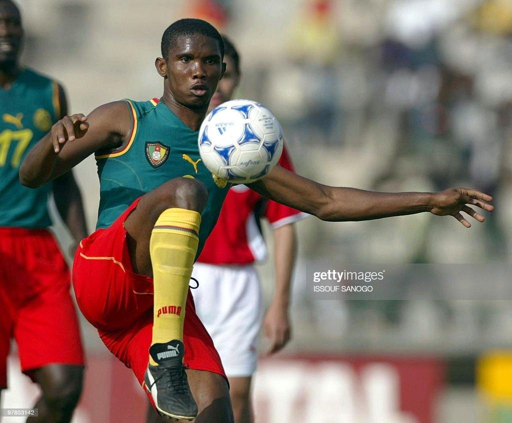 Cameroon s forward Samuel Eto o Fils con