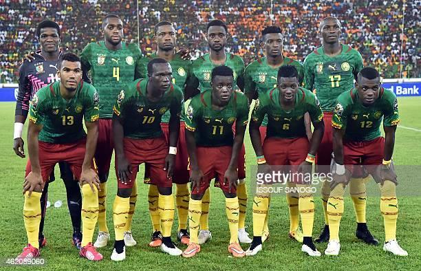 Cameroon's squad goalkeeper Fabrice Ondoa midfielder Raoul Cedric Loe defender Aurelien Chedjou defender Nicolas Nkoulou forward Benjamin Moukandjo...
