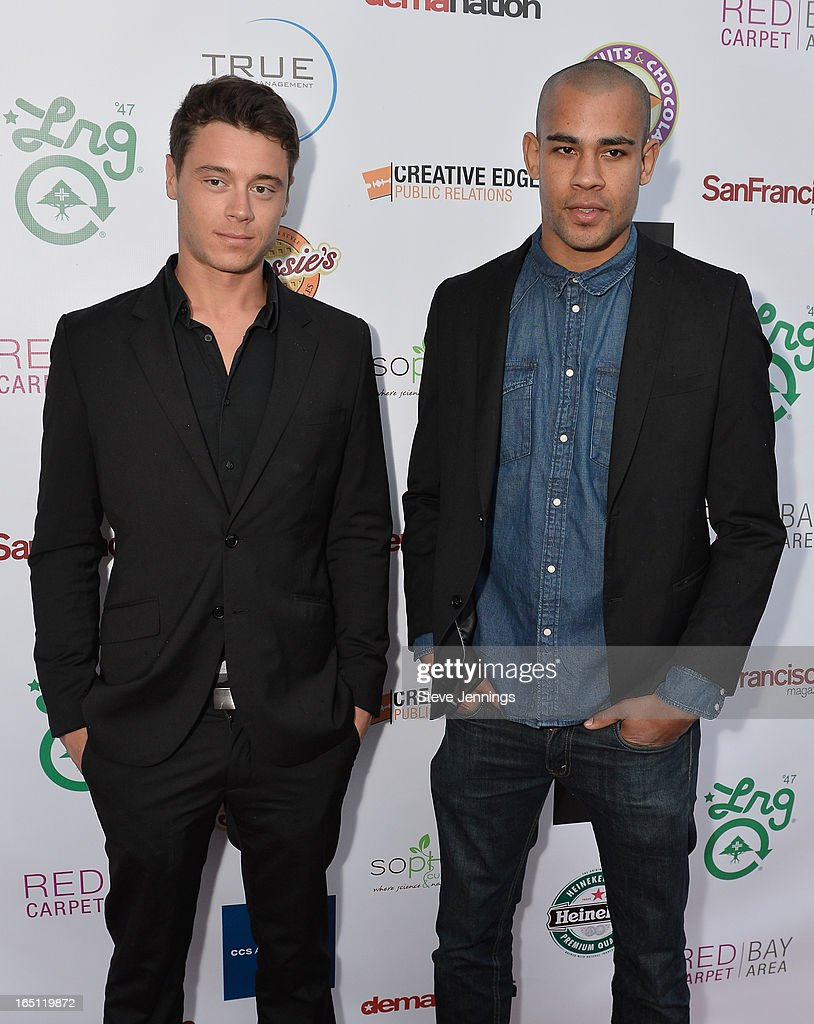 Camerson Fletcher and Reese Cameron (L-R) attend the 6th Annual 'Where Hip Hop Meets Couture' Fashion Show at Dog Patch Wine Works on March 30, 2013 in San Francisco, California.