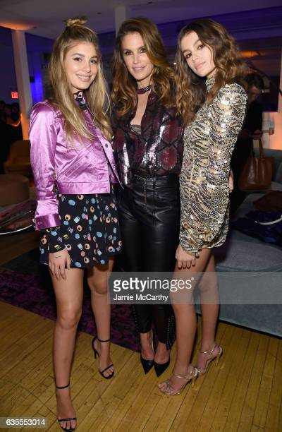 Cami Morrone Cindy Crawford and Kaia Gerber attend Marc Jacobs Beauty Celebrates Kaia Gerber on February 15 2017 in New York City