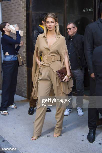 Cami Morrone is seen in Tribeca on September 13 2017 in New York City