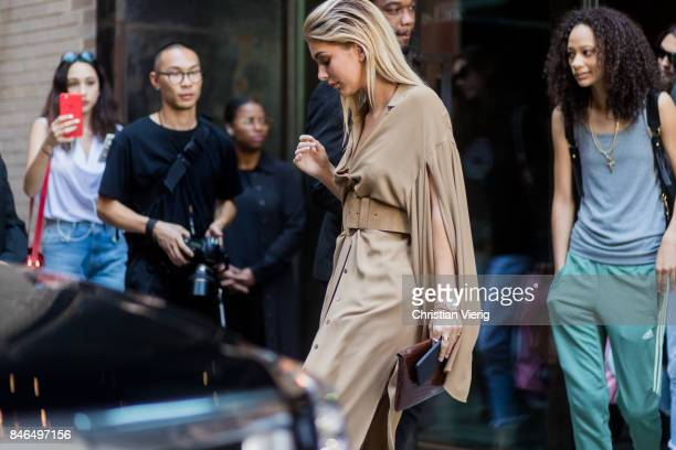 Cami Morrone seen in the streets of Manhattan outside Michael Kors during New York Fashion Week on September 13 2017 in New York City