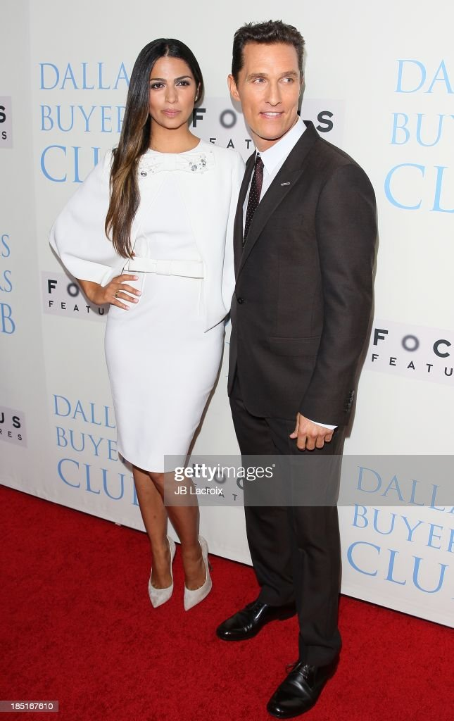 Camila Alves and Matthew McConaughey attend the 'Dallas Buyers Club' Los Angeles premiere held at the Academy of Motion Picture Arts and Sciences on October 17, 2013 in Beverly Hills, California.