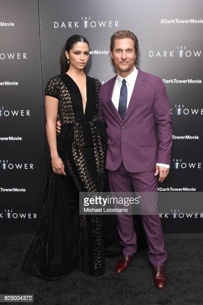 Camila Alves and Matthew McConaughey attend 'The Dark Tower' New York Premiere on July 31 2017 in New York City