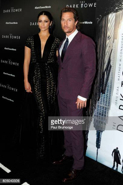 Camila Alves and Matthew McConaughey attend 'The Dark Tower' New York premiere at The Museum of Modern Art on July 31 2017 in New York City