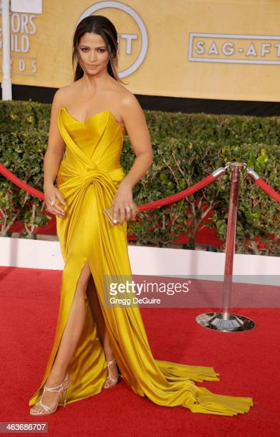 Camila Alves arrives at the 20th Annual Screen Actors Guild Awards at The Shrine Auditorium on January 18 2014 in Los Angeles California