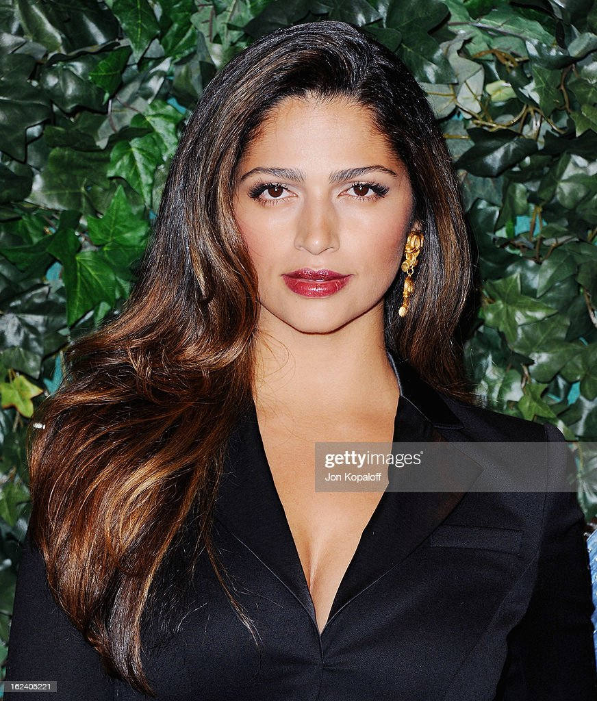 <a gi-track='captionPersonalityLinkClicked' href=/galleries/search?phrase=Camila+Alves&family=editorial&specificpeople=4501431 ng-click='$event.stopPropagation()'>Camila Alves</a> arrives at the QVC Red Carpet Style Party at Four Seasons Hotel Los Angeles at Beverly Hills on February 22, 2013 in Beverly Hills, California.