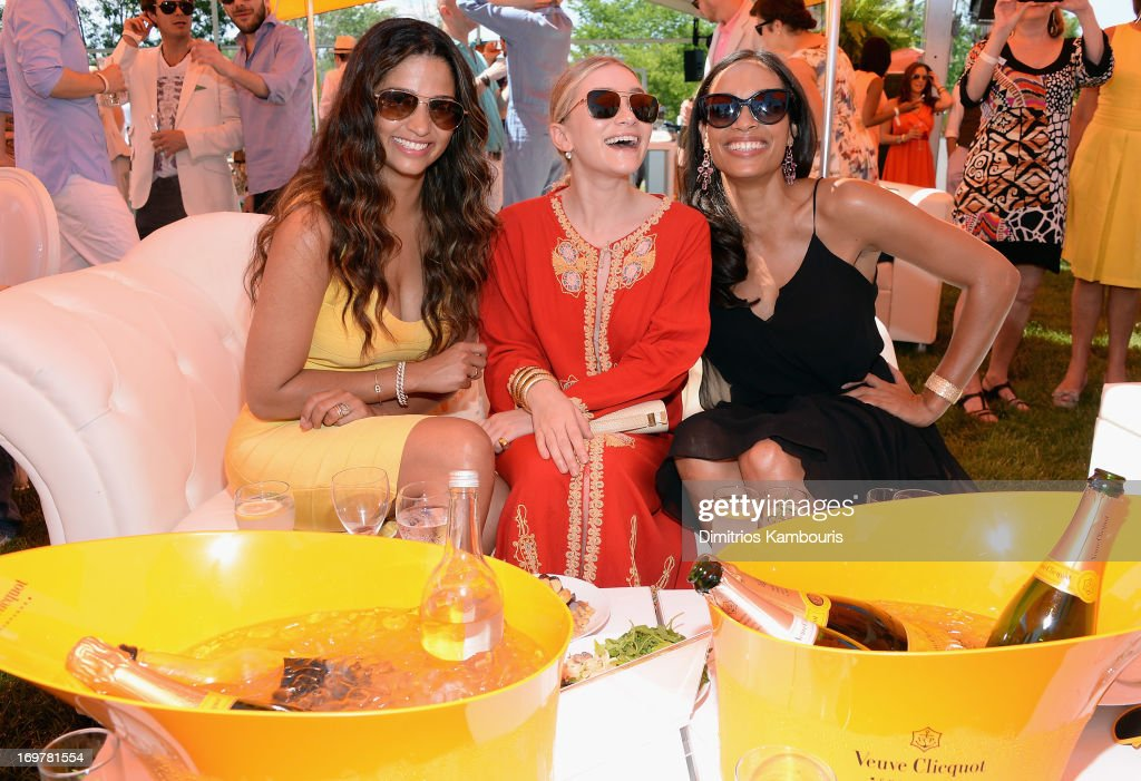 Camila Alves, Ashley Olson and Rosario Dawson attends the VIP Marquee during the sixth annual Veuve Clicquot Polo Classic on June 1, 2013 in Jersey City.