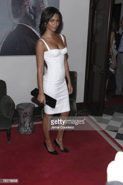 Camila Alves attends Dolce Gabbana's 'The One' Fragrance Launch and Private Dinner at The Grammercy Park Hotel on December 4 2007 in New York City