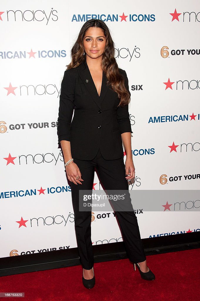 <a gi-track='captionPersonalityLinkClicked' href=/galleries/search?phrase=Camila+Alves&family=editorial&specificpeople=4501431 ng-click='$event.stopPropagation()'>Camila Alves</a> attends Macy's 'American Icons' Campaign Launch at Gotham Hall on May 14, 2013 in New York City.