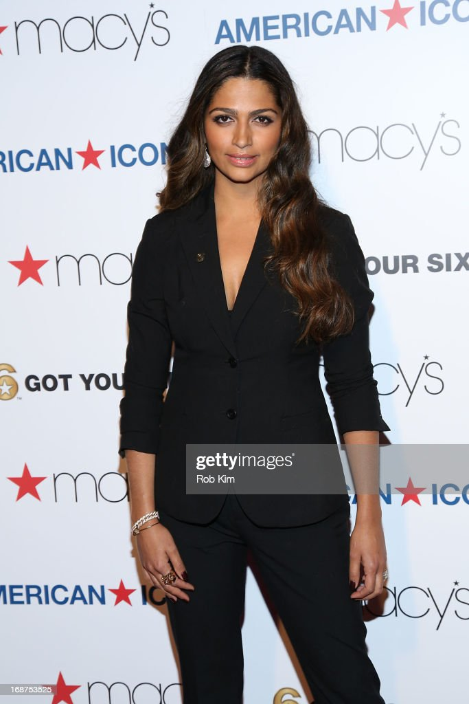 <a gi-track='captionPersonalityLinkClicked' href=/galleries/search?phrase=Camila+Alves&family=editorial&specificpeople=4501431 ng-click='$event.stopPropagation()'>Camila Alves</a> attends Macy's launches 'American Icons' at Gotham Hall on May 14, 2013 in New York City.