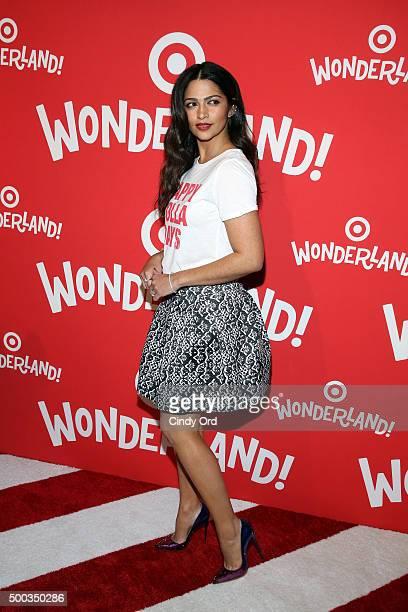 Camila Alves attends Target Wonderland VIP event on December 7 2015 at Target Wonderland 70 10th Avenue in New York City