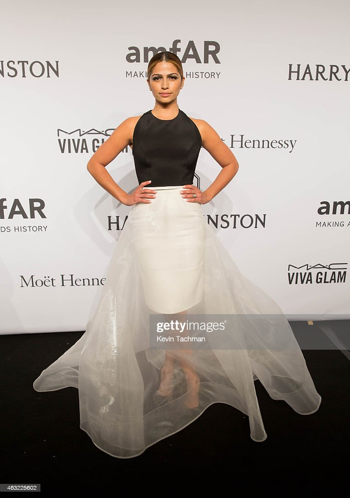 Camila Alves attends the 2015 amfAR New York Gala at Cipriani Wall Street on February 11, 2015 in New York City.