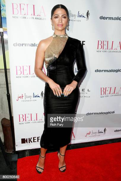 Camila Alves attends the BELLA Los Angeles Summer Issue Cover Launch Party at Sofitel Los Angeles At Beverly Hills on June 23 2017 in Los Angeles...
