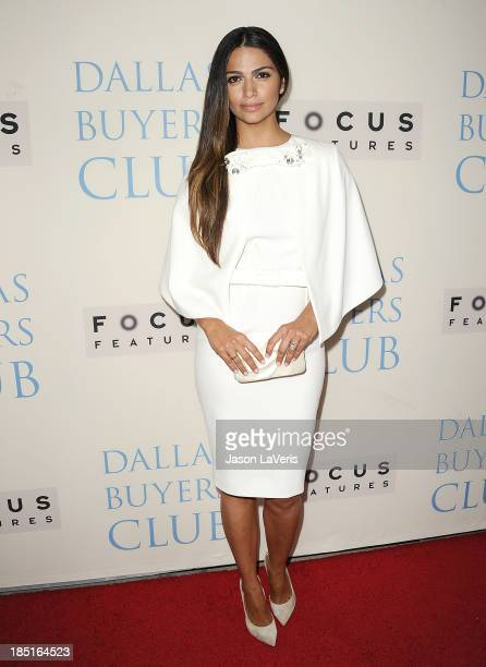 Camila Alves attends the premiere of 'Dallas Buyers Club' at the Academy of Motion Picture Arts and Sciences on October 17 2013 in Beverly Hills...