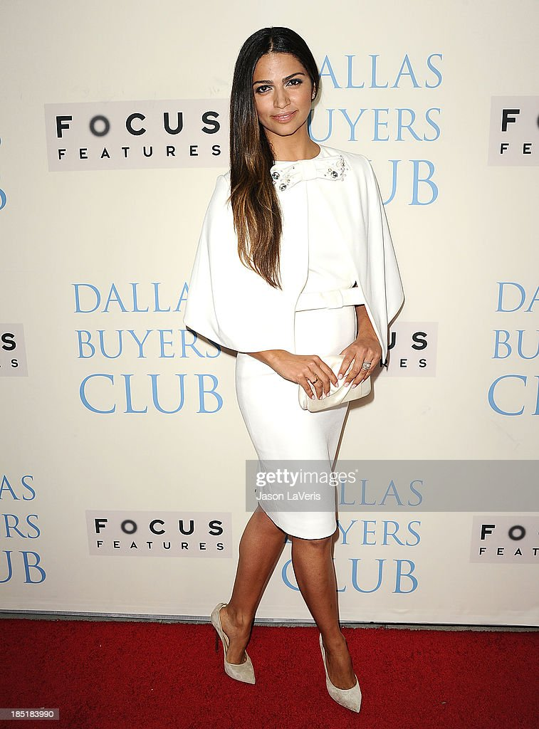 Camila Alves attends the premiere of 'Dallas Buyers Club' at the Academy of Motion Picture Arts and Sciences on October 17, 2013 in Beverly Hills, California.