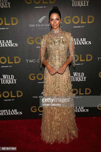 Camila Alves attends TWCDimension with Popular Mechanics The Palm Court Wild Turkey Bourbon Host the Premiere of 'Gold' at AMC Loews Lincoln Square...