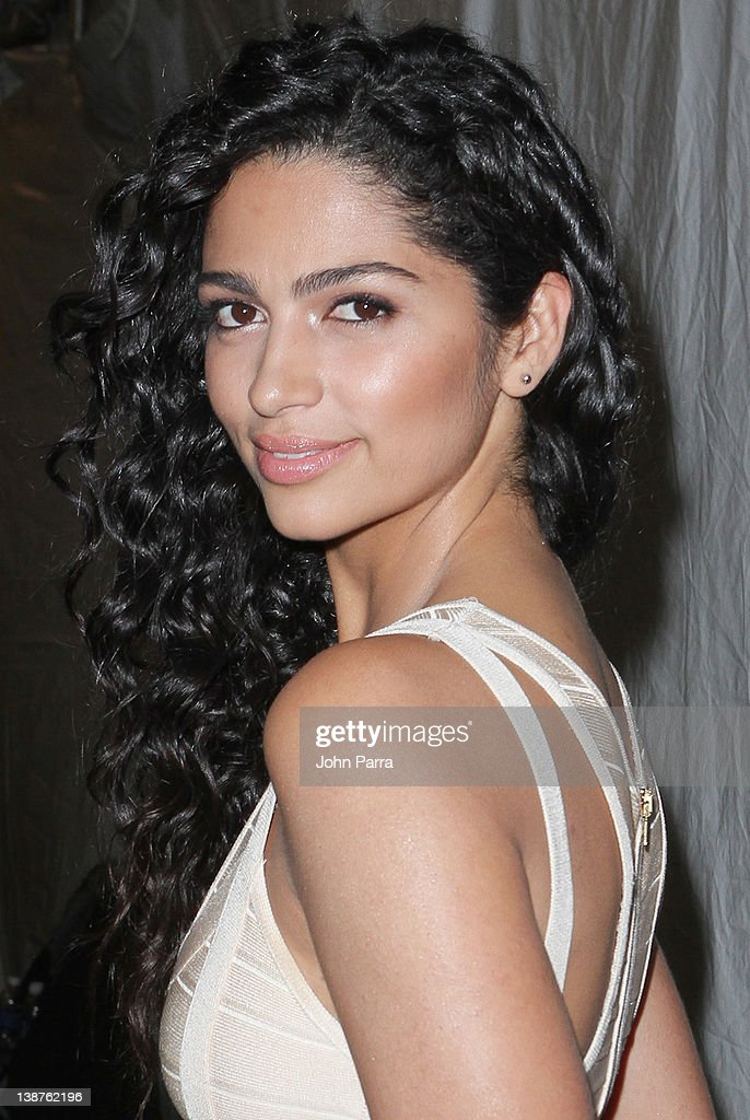Camila Alves is seen around Lincoln Center during Fall 2012 Mercedes-Benz Fashion Week on February 11, 2012 in New York City.