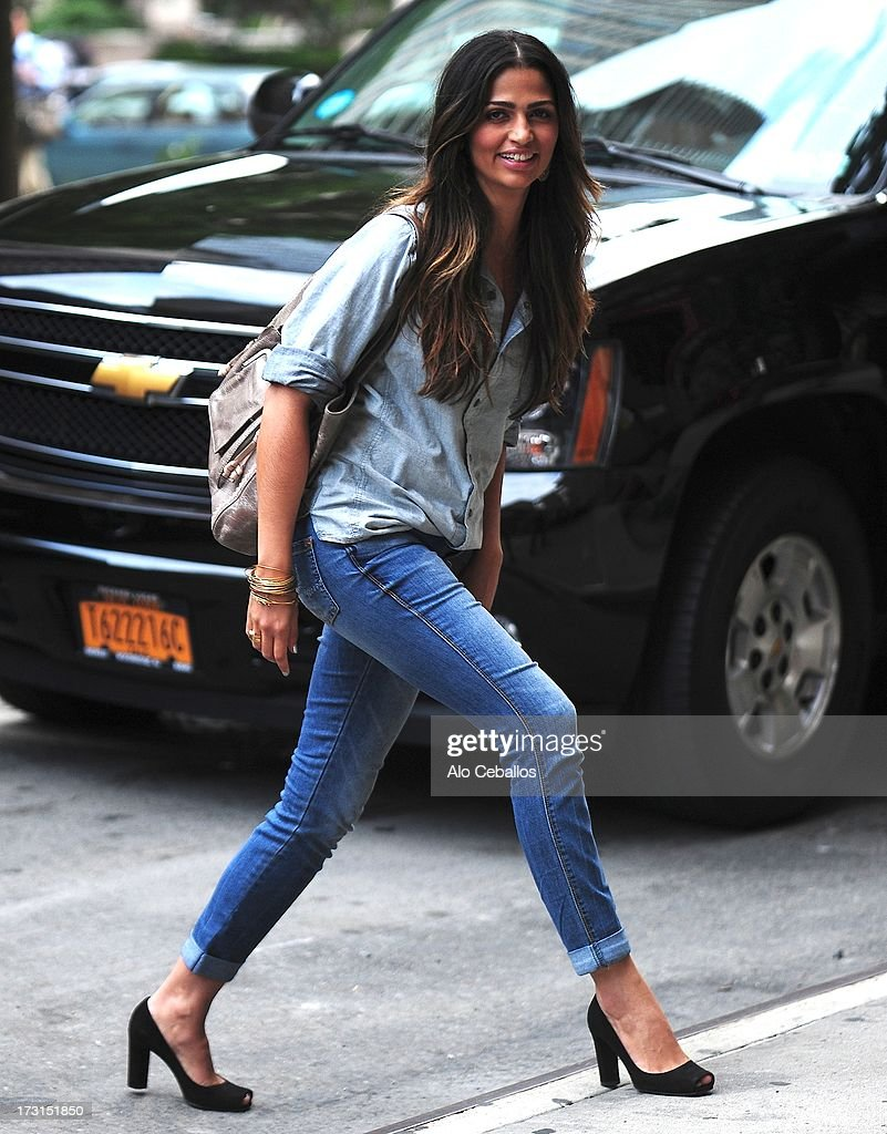 <a gi-track='captionPersonalityLinkClicked' href=/galleries/search?phrase=Camila+Alves&family=editorial&specificpeople=4501431 ng-click='$event.stopPropagation()'>Camila Alves</a> is seen in Tribeca on July 8, 2013 in New York City.