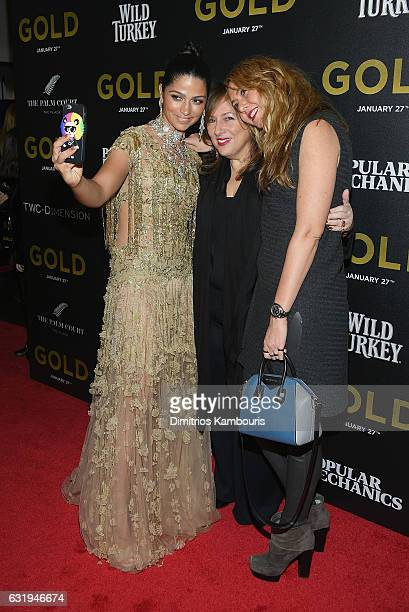 Camila Alves Lorraine Schwartz and Ofira Sandberg attend The World Premiere of 'Gold' hosted by TWC Dimension with Popular Mechanics The Palm Court...