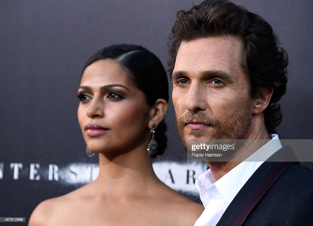 Camila Alves McConaughey (L) and actor Matthew McConaughey attends the premiere of Paramount Pictures' 'Interstellar' at TCL Chinese Theatre IMAX on October 26, 2014 in Hollywood, California.