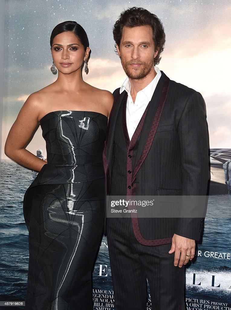 Camila Alves McConaughey and Matthew McConaughey arrives at the 'Interstellar' - Los Angeles Premiere at TCL Chinese Theatre IMAX on October 26, 2014 in Hollywood, California.