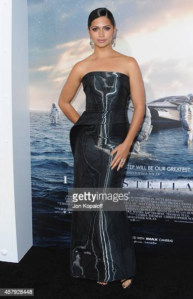 Camila Alves McConaughey arrives at the Los Angeles Premiere 'Interstellar' at TCL Chinese Theatre IMAX on October 26 2014 in Hollywood California