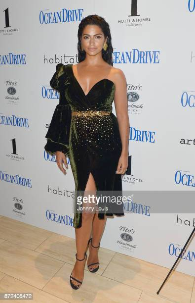 Camila Alves McConaughey attends as Ocean Drive Magazine celebrates her November cover at 1 Hotel and Home on November 9 2017 in Miami Beach Florida