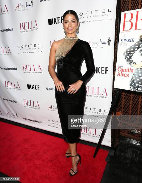 Camila Alves McConaughey attends the BELLA Los Angeles Summer Issue Cover Launch Party at Sofitel Los Angeles At Beverly Hills on June 23 2017 in Los...